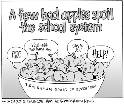 Cartoon: A few bad apples spoil the school system